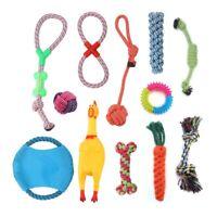 12 Pcs Set Hunde Spielzeug aus Seil Kauspielzeug Pet Dog Toy Hund Welpen Kauen