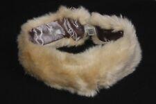 Glamorous Damas Elegante Beige calentador de invierno suave Diadema/cabeza (S319)