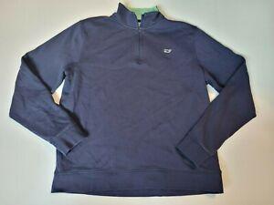 Boys Vineyard Vines 100% Pima Cotton 1/4 Zip Pullover size XLarge 18 navy blue