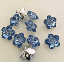 10 X Acrylic Rhinestone Flower Buttons - Australian Supplier