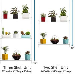 2&3 Tier Hanging Shelf Window Plant Acrylic Hanging Shelves for Kitchen Bathroom