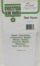"Evergreen Sheet Styrene 4037 - Car Siding - H0 Scale - 3- 1/4"" Spacing"