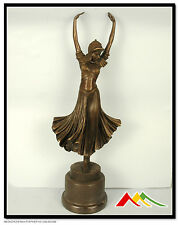 "Bronze sculpture art deco Dancer statue ""Hindu dancer"" SIGNED D.H.Chiparus"