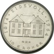 elf Norway 10 Kroner 1964 Silver Constitution 150th
