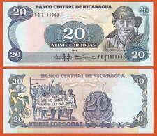 P152   Nicaragua    20 Cordoba   1985  UNC