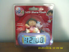 2007 DORA THE EXPLORER LCD ALARM CLOCK NEW MINT IN PACKAGING