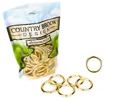 10 - Country Brook Design® 1 1/4 Inch Solid Brass Welded Heavy O-Rings