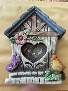Quality Rubber Latex Mould Standing Fairy House Door garden ornament robin