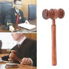 1PC Hammer Hammer handgemachte hölzerne Auktion Anwalt Richter Hammer D3Q4
