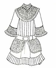 """Sewing Pattern fits 15 16 """" Doll dress clothes outfit Victorian German French"""