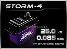 POWER HD STORM-4 SERVO DIGITALE 25.0 kg 0.08 sec BRUSHLESS INGRANAGGI IN TITANIO