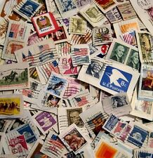 USA Lot of 50 Used Postage Stamps On-Paper No Doubles Different Size Issues