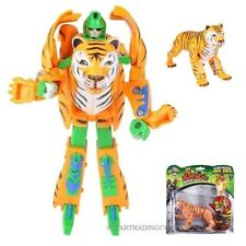 """Tiger Transforming Robot Jungle Cat Wild Action Figure Transformer Game Toy 8"""""""