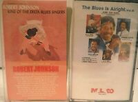 Two Blues Cassettes Robert Johnson + The Blues Is Alright Vol.3 (Sealed) BB King