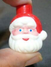 20 Vintage Hard Plastic Santa Head Mini-Light Covers for Christmas Tree String