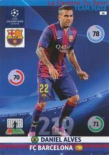066 DANIEL ALVES FC.BARCELONA  CARD CHAMPIONS LEAGUE ADRENALYN 2015 PANINI