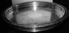 "Lovely International Camelot 11"" S/P Tray with Gallery Sides, No Mono, Perfect"