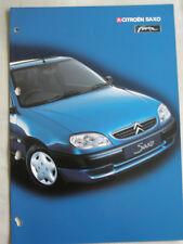 Citroen Saxo Forte brochure Jan 2002