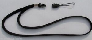 2 Black Quick Release NECK LANYARD  STRAP for USB Thumb Drives or Key or ID