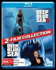 Deep Blue Sea / Deep Blue Sea 2 (Blu-ray, 2018, 2-Disc Set)  New & Sealed