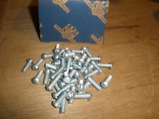 "(Qty.50) NOS Vintage 10-32 X 5/8"" Round Head Slotted Zinc Machine Screws USA"