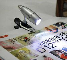 LED Leselampe Klemmleuchte Clip mit Power LED Buchleuchte Leuchte
