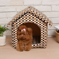 New Foldable Dog Cat House Printed Leopard Small Animal Kennel Travel Portable