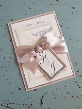 Rose Gold Glitter with Blush Pink Wedding Invitation,Evening Invitation,...