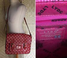 Polka Dot Red Satchel Shoulder Bag with Adjustable Strap