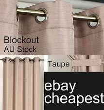 Urban II TAUPE latte Thermal Blockout Curtains EYELET CURTAIN ring top 140x221