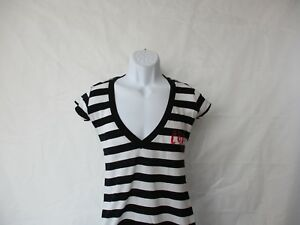 The Cure Stripped Deep Neck T-Shirt - Junior  Sizes Small to X-Large - NEW