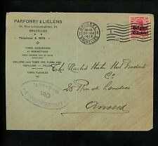 Postal History Belgium Scott #N3 Fitting Pipes Gas and Water Ad 1915 Brussels