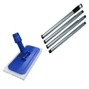 SYR Edge and Floor Cleaning Swivel Head Sweep Mop - Fold away Handle with 4 Pads