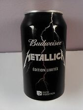 LOT OF 2 BUDWEISER METALLICA -EMPTY BEER CAN- LIMITED EDITION