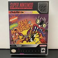Aaahh!!! Real Monsters Nickelodeon SNES Super Nintendo Game Cartridge Retro Rare