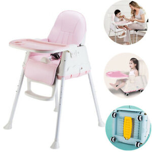 3-In-1 Baby Toddler Highchair Infant High Feeding Seat Adjustable Table Chair