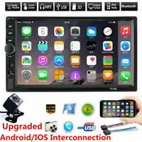 "7"" Double DIN Bluetooth Car Radio Stereo FM MP5 Player Touch Screen +Rear Camera"