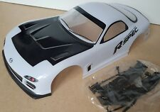 1/10 RC car 190mm on road drift RX7 body shell with spoilers