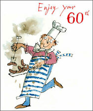 Quentin Blake Sizzling Chef Enjoy Your 60th Male Birthday Greeting Card