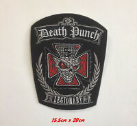Death punch legionary art badge clothes Iron/Sew on Embroidered Patch applique