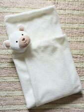 Fao Bear Plush Off White Tan Security Blanket Large Cream Geoffrey Toys R Us
