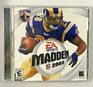 Madden 2003 for Windows (2002, EA Games) PC CD-ROM w/Key Open Box Never Played