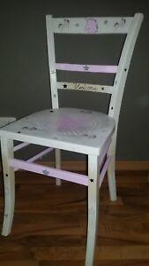 Einhorn Einhorn-Stuhl  Unicorn weiss rosa Stern Unikat Geschenk Shabby