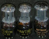 3 NOS TRIO Raytheon VT-231 6SN7GT Tube's Double Rod's [] Getter B65 6SN7 Vintage