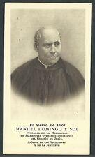 Estampa antigua del Siervo Manuel andachtsbild santino holy card santini