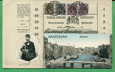 Ottmar Zieher Stamps of Netherlands on Postcard - Munchen No.55 - S8222