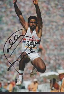 DALEY THOMPSON 1 Olympia 13x18 signiert IN PERSON Autogramm signed RAR