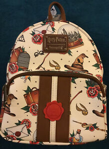 Loungefly Harry Potter 🔥RARE🔥AOP Relics Tattoo Mini Backpack BNWT