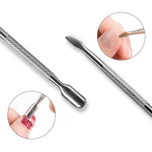 Cuticle Pusher Remover Trimmer & Spoon Nail Cleaner Fingernail Pedicure Manicure