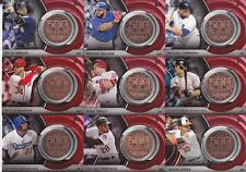 2016 TOPPS UPDATE 500 HR FUTURES CLUB MEDALLION SET (-2) Retail Exclusive TROUT